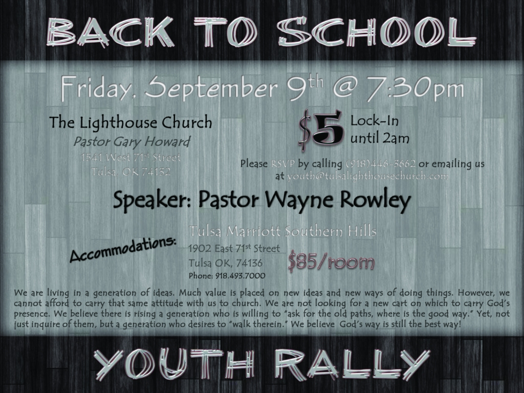 Back To School Youth Rally